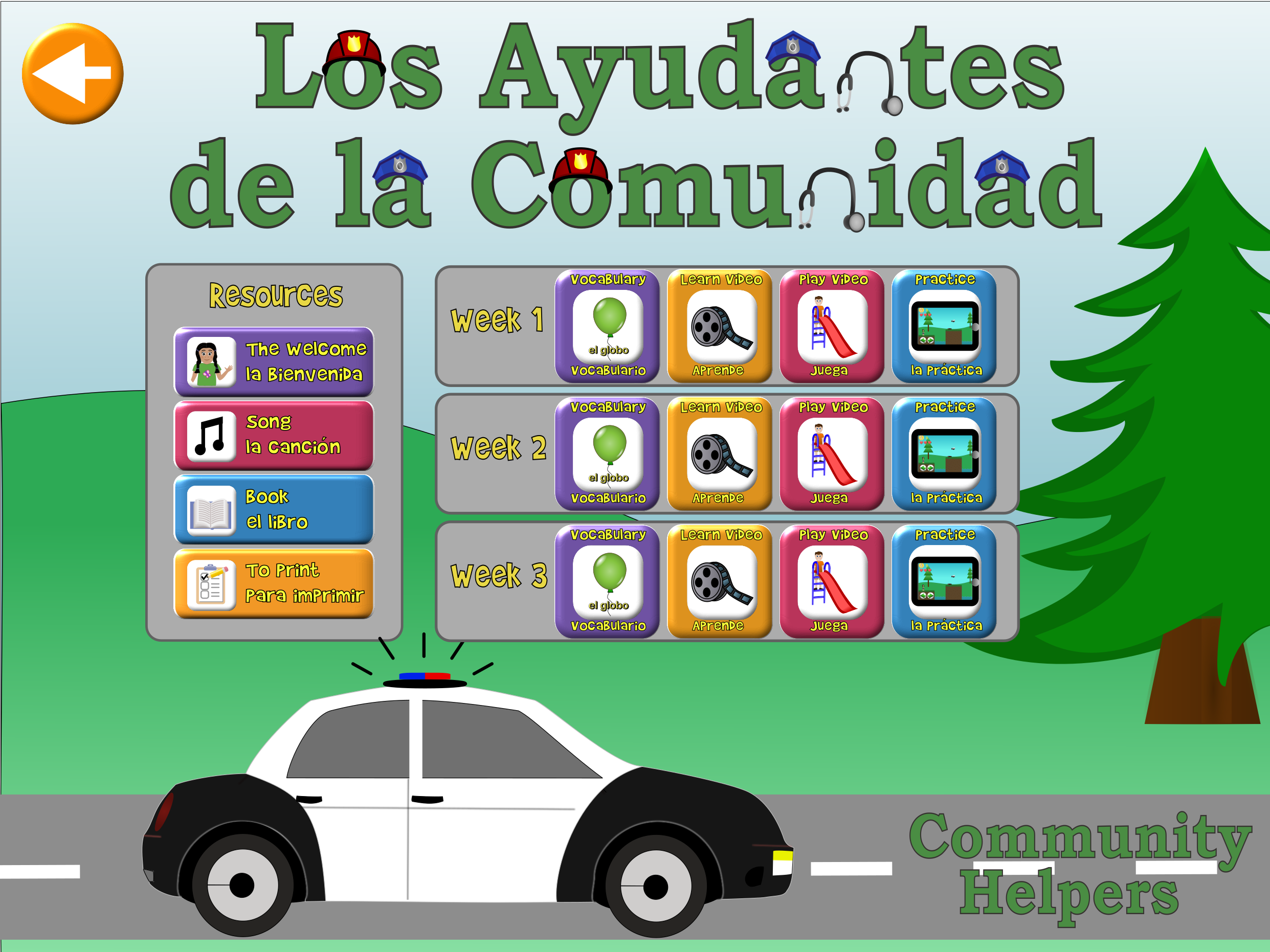 Community Helpers Title Screen