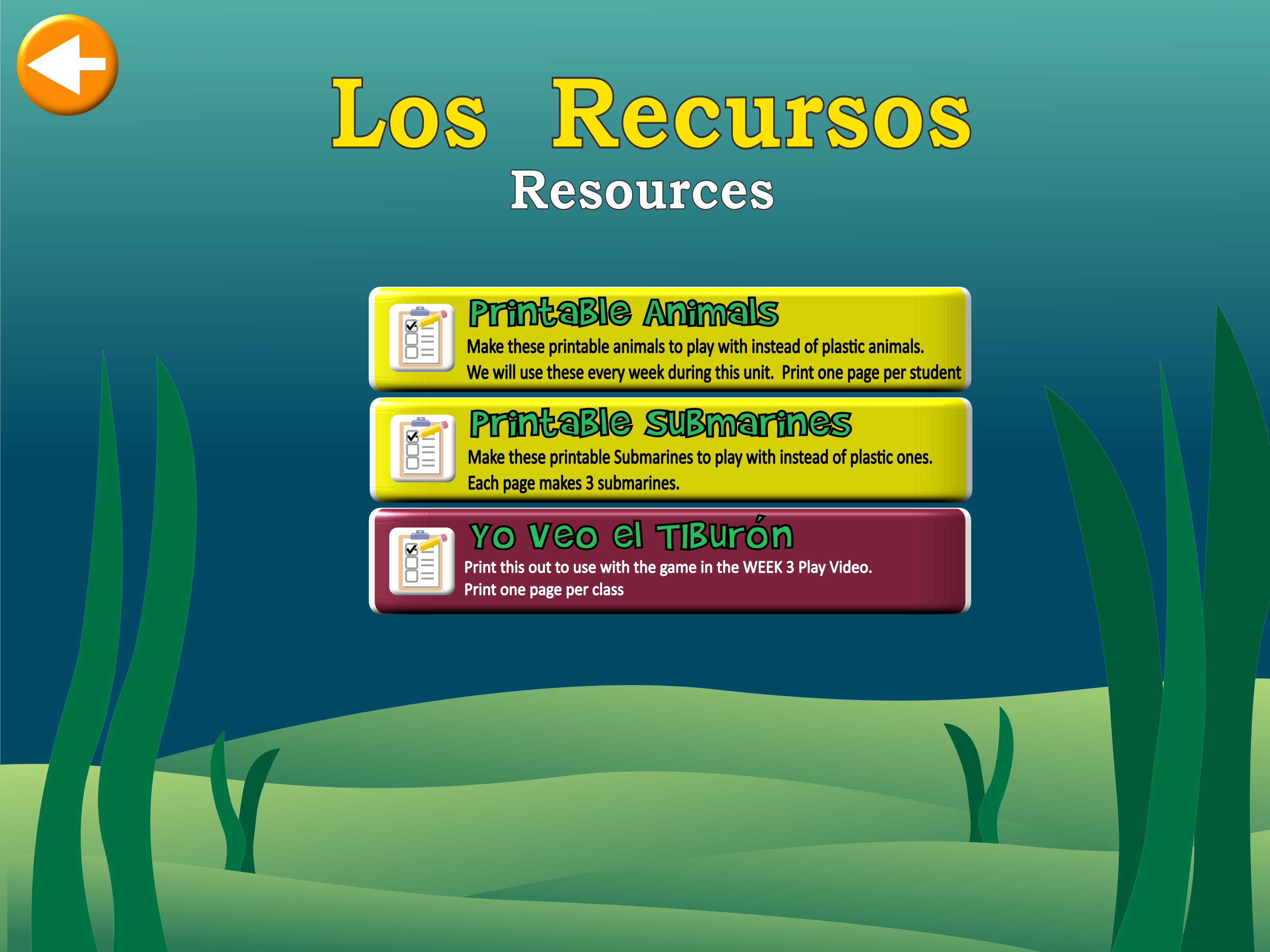 Under the Sea Resources